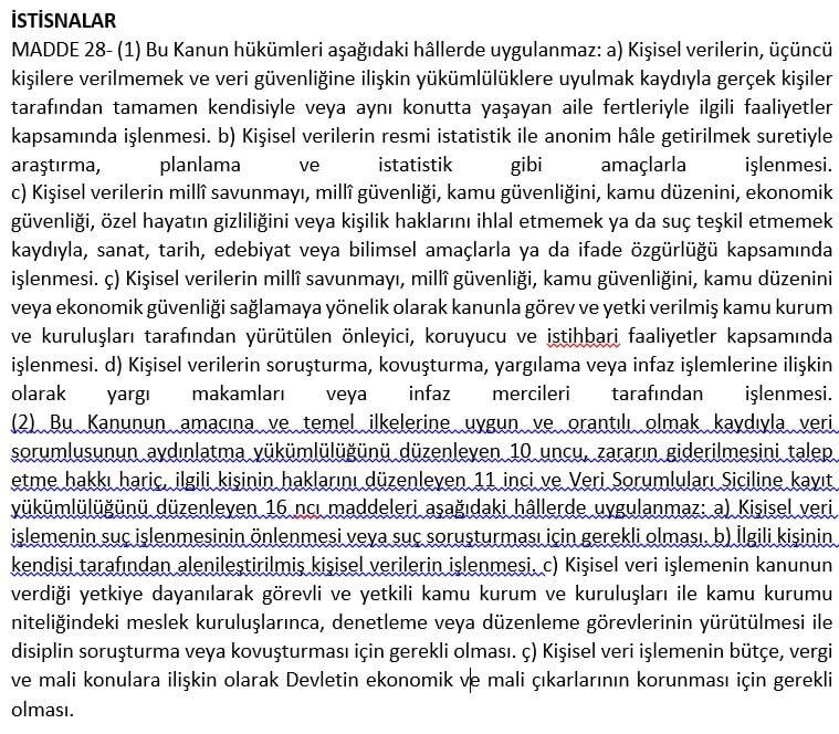 KVKK Madde 28